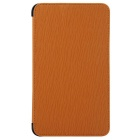 "Toothpick Grain Pattern Protective PU + PC Case w/ Stand for 7"" Samsung Galaxy Tab 4 T230 - Brown"