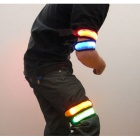 LED Armband for Outdoor Walking & Running - White + Yellow + Blue