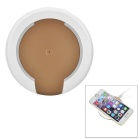 GPD-1011 Qi Wireless Charger for Samsung / Nokia Lumia / Google Nexus - Transparent + Champagne Gold