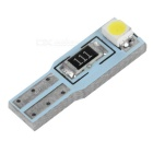 T5 1.6W LED Instrument Lamp Cold White 28560K 12lm 2-SMD (5PCS / 12V)