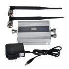 "GSM WCDMA Phone Signal Amplifier Booster w/ 0.6"" LCD - Silver + Black"
