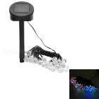 Diamond Shaped Solar Powered Waterproof 1.2W LED Party Decorative String Light Lamp