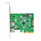 FG-EUSB312A PCI-E to USB 3.1 Extension Card Adapter - Green + Black