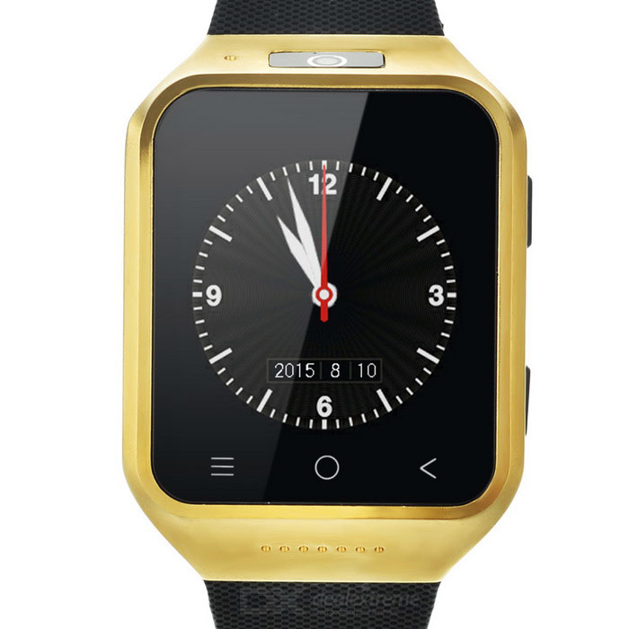 ZGPAX S8 Android 4.4 Watch Phone w/ 512MB RAM, 4GB ROM - Black+Golden