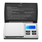 "KL-08 1.2"" Screen Pocket Digital Jewelry Scale - Black + Silver (300g / 0.01g)"