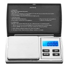 "KL-08 1.5"" LCD Screen Pocket Digital Jewelry Balance Scale - Black + Silver (500g / 0.01g / 2 x AAA)"