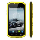 "H8 MTK6572 Dual-core Android 4.4.2 WCDMA Rugged Bar Phone w/5.0"" Screen, Wi-Fi, GPS - Black + Yellow"