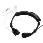 Adjustable 3.5mm Throat-Vibration Anti-Radiation Air Duct Earphone Headphone Headset w/ Mic - Black