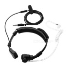 3.5mm Throat-Vibration Anti-Radiation Air Duct Earphone w/ Mic - Black