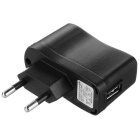 M USB 2.0 to M Micro USB Data Cable + EU Charger Adapter - Black