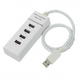 4-Port USB 3.0 Hub for Computer / Laptop - White