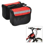 INBIKE IB219 Outdoor Cycling Oxford Bike Top Tube Double Saddle Bag - Black + Red