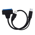 USB 3.0 Male to SATA 7-Pin + 6-Pin Male Cable for CD-ROM - Black