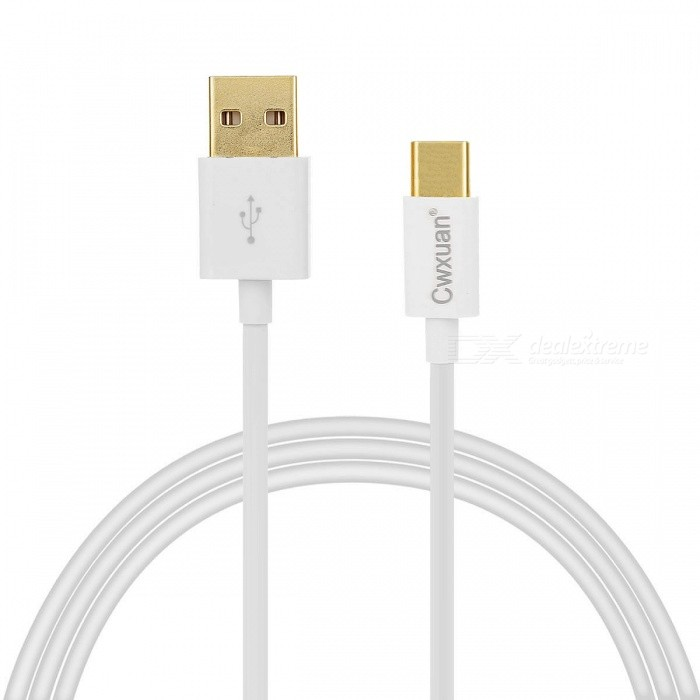 Cwxuan USB 3.1 Tipo C para USB 2.0 Charging & Data Sync Cable - Branco