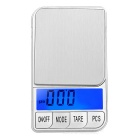 "KL-15 2.5"" LCD Screen Pocket Digital Balance Scale - Silver (500g / 0.1g / 2 x AAA)"