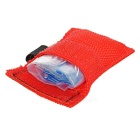 Disposable Mouth to Mouth PVC Breath Mask for First Aid - Dark Red