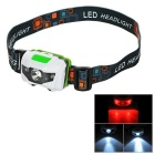 PHORCYS 1W 2-Mode LED Smart Headlamp for Night Fishing - White + Green (3 x AAA)