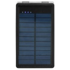 Universal Dual USB 10000mAh Li-ion Battery Solar Power Bank - Black