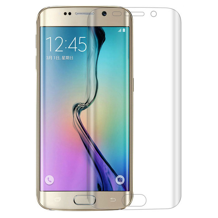 Angibabe 0.1mm Arc Clear TPU Displaybescherming voor Samsung Galaxy S6 Edge - Doorzichtig