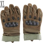Outdoor Tactical / Racing Anti-Slip Anti-Cuts Full-Finger Gloves - Green (Size XL / Pair)