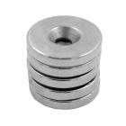 6mm Perforated NdFeB Neodymium Magnets Circular Puzzle Set - Silver (5 PCS)