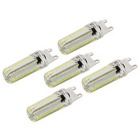Dimmable G9 7W LED Corn Bulbs White Light 840lm 6000K 152-3014 SMD (AC 110V, 5 PCS)