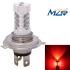 MZ H4 80W 16-XT-E LED Car Front Headlamp Red Light 660nm 4000lm w/ Constant Current (12~24V)