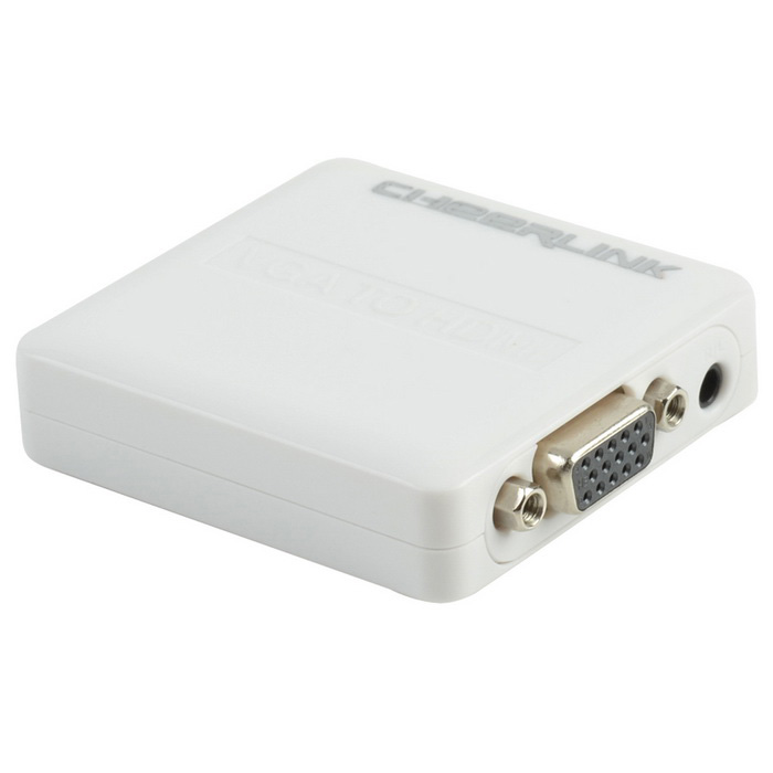 CHEERLINK Mini VGA + L/R to HDMI Converter w/ USB Cable - White