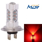 MZ H7 80W 16-XT-E LED Car Front Foglamp Red Light 660nm 4000lm w/ Constant Current (12~24V)
