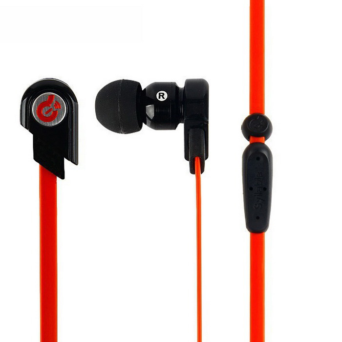 Syllable G02 3.5mm In-Ear Headphone Headset w/ Mic - Black + Red
