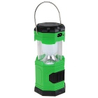 FESTORY KX-Y03 Solar Power Rechargeable 6-LED Camping Lantern Light Cool White 300lm - Green + Black