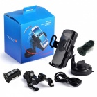Cwxuan Qi Wireless Phone / Car Charger w/ Suction Cup Holder - Black