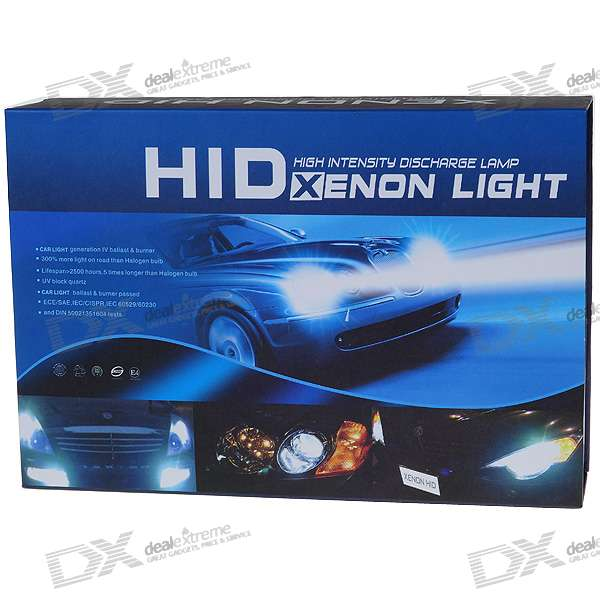 EckoMax Vehicle HID Hi/Lo Dual Headlamp Complete Set (H4 8000K)