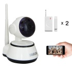 HOSAFE 1MW15 CMOS 1.0MP Home Security IP Camera w/ 10-IR-LED / Door&Window Sensor / TF (EU Plug)