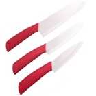 "RIMON chique keramische mes 5 inch/6 inch/7 ""Set - rood (3st)"
