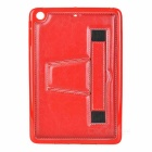 Retro Handheld Protective TPU Back Case w/ Stand for IPAD MINI - Red