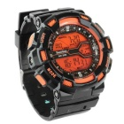 BESTDON BD5517G Men's LED Digital Watch - Black + Orange (1*2025)