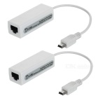 Mini USB al adaptador RJ45 - Blanco (2PCS)
