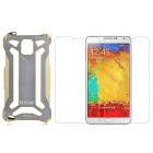 R-JUST Protective Waterproof Aluminum Alloy Case + Tempered Glass Film for Samsung Galaxy Note3