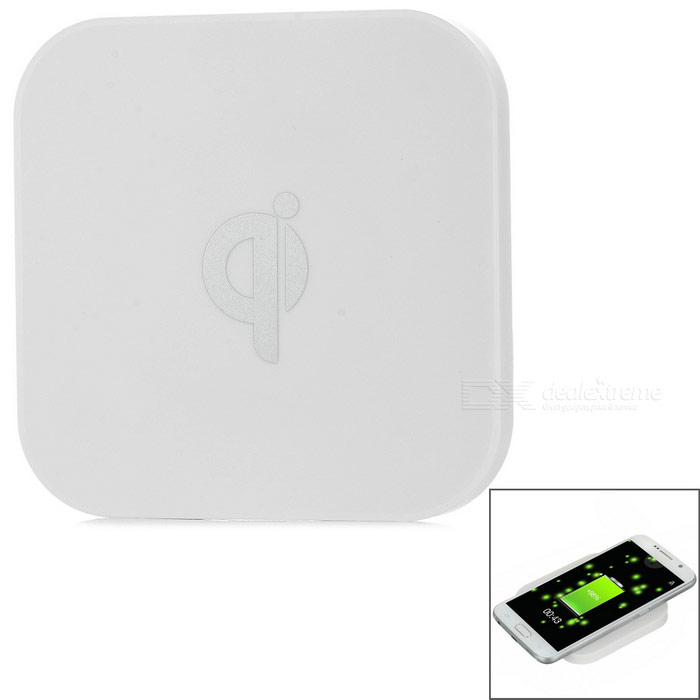 Dual USB Qi Wireless Charger + Charger Receiver Module - White