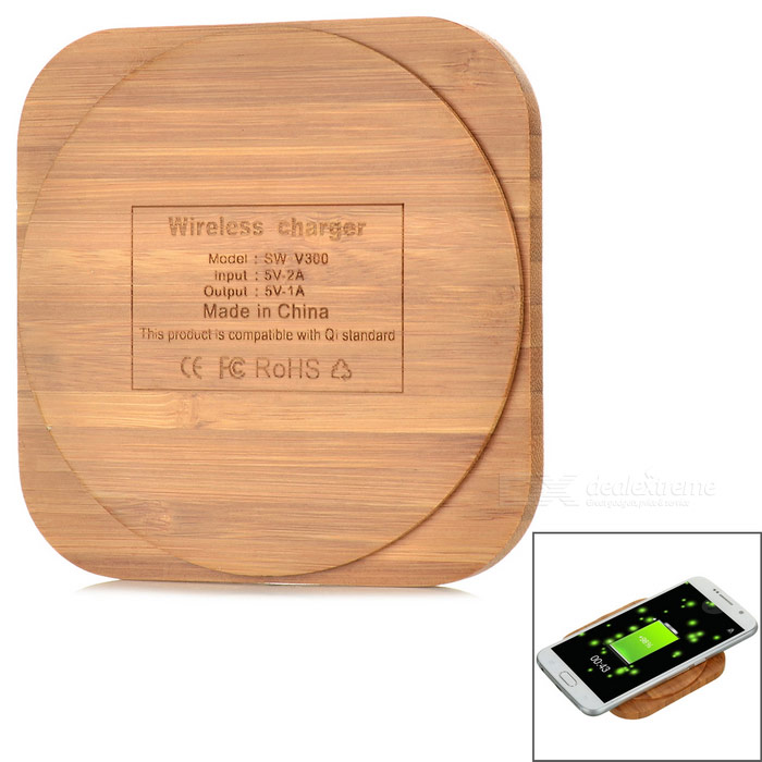 StylishUniversalBambooQiWirelesscharger-WoodColor