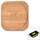 Stylish Universal Bamboo Qi Wireless Charger - Wood Color