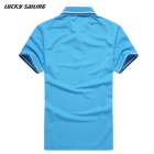 Lucky Sailing CSL02P Men's Short-Sleeved Polo T-Shirt - Light Blue (M)
