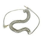 3.5mm Male to Male Spring Audio Cable - Translucent Grey (60cm)