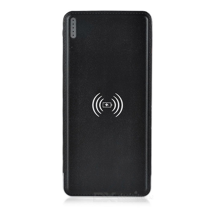 "UniversalQi""10000mah силы""WirelessDualUSBMobilePower-черный"