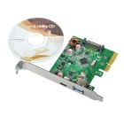 PCI-E to USB 3.1 Type C / USB 3.1 Type A Adapter Card - Green + Black