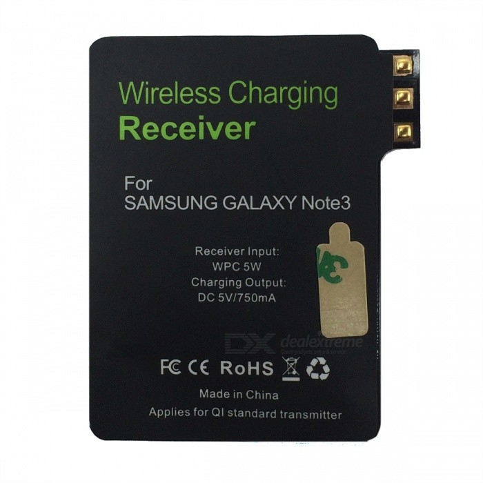Qi Wireless Charging Receiver for Samsung Note 3 - Black