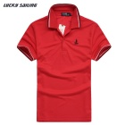 Lucky Sailing CSL02P Men's Short-Sleeved Polo Shirt T-Shirt - Red (XXL)