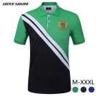 Lucky Sailing CSL04P Men's Short-sleeved Polyester Polo Shirt - Green (XXL)