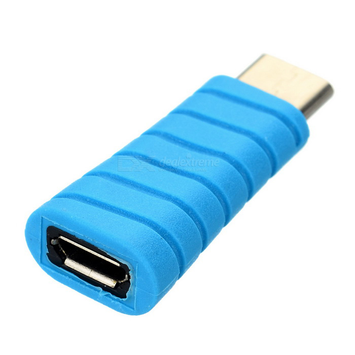 USB 3.1 Type-C Male to Micro USB Female Adapter for MACBOOK - Blue
